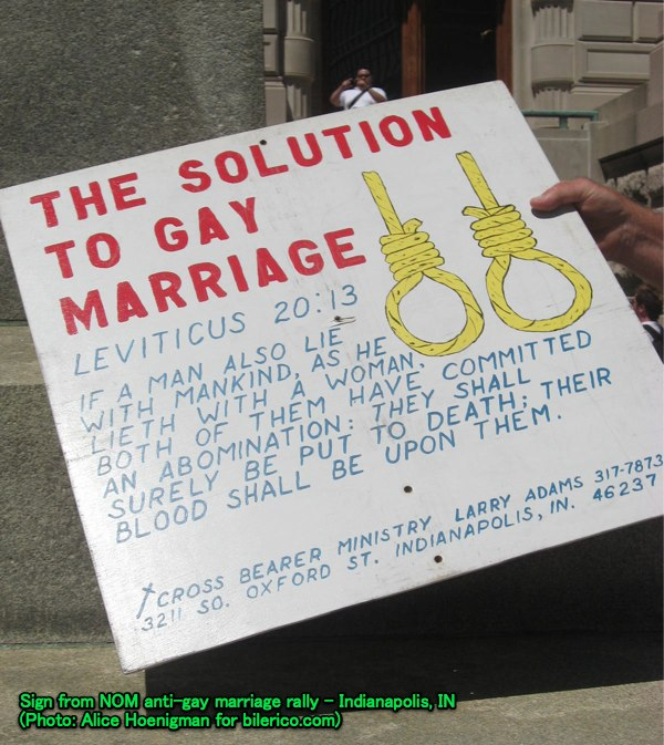 The Solution To Gay Marriage Is A Double Hanging